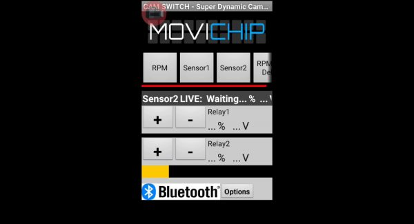 CamSwitch Sensor 2 Threshold Settings Adjustment the trigger thresholds for Sensor 2