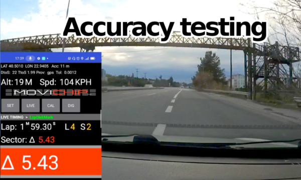 Lap timer app accuracy testing. Time Trial 2 EVO