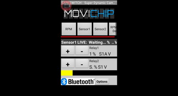 MoviChip Sensor 1 Threshold Setting Set activation threshold for Sensor 1