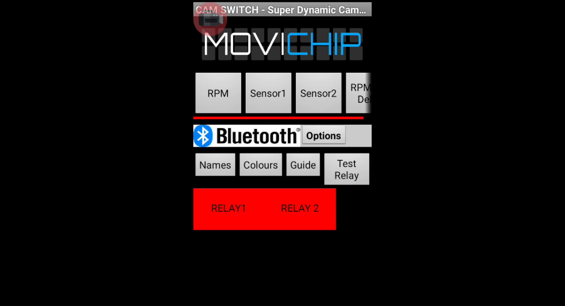 MoviChip CamSwitch - Test Relays